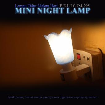 ... EELIC JM-995 Mini Warna Biru Model Bunga Lampu cantik Malam Hari Tidak Silau Di