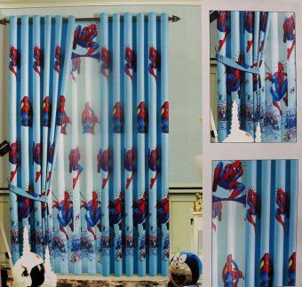 Ellenov Gorden + Vitrage Import Black Out Play ground Spiderman Uk220 x 260 - Biru
