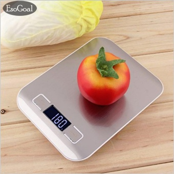 EsoGoal Digital Kitchen Scale Multifunction Food Scale, 11 lb 5 kg, Black, Stainless Steel - intl - 5