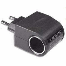 EU Plug ke Car Charger 12V 500mA - Black