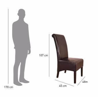 Detail Gambar Fabelio - Lentin Dining Chair - Brown - Khusus JABODETABEK Terbaru