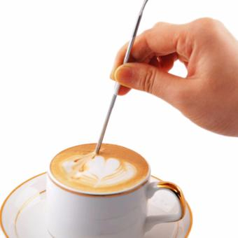 ... Fancyqube 2pc High Quality Creative Barista Cappuccino Espresso Coffee Decorating pen Art Stainless Steel Household Cafe