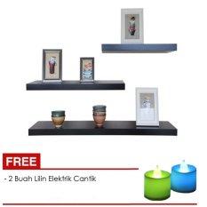 Harga Lampu Dinding Minimalis Model 519 Black Rumah Tangga Source · Floating Shelves Ambalan Dekorasi Rak