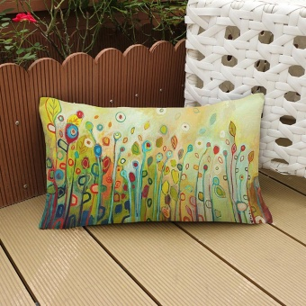 Flower Printing Sofa Bed Home Decoration Festival Pillow CaseCushion Cover A - intl ...