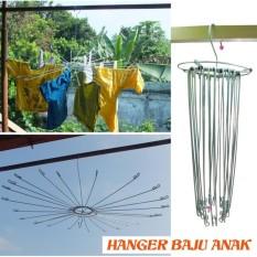 Folding hanger Anak Besi / Gantungan Baju Bayi Bulat