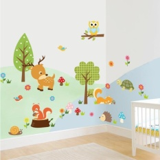 Forest Animals Owl Children's Room Bedroom Background Wall Sticker - intl