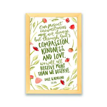 Frame Motivasi Compassion Kindness And Love (A-26) - 2