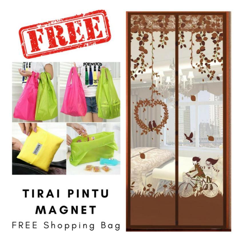 Free Shopping Bag - Tirai Pintu Magnet Anti Nyamuk - Motif LoveBird