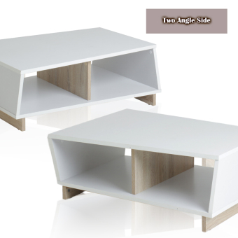 FUNIKA REGINA Coffee Table - White and Sonoma OAK - 4