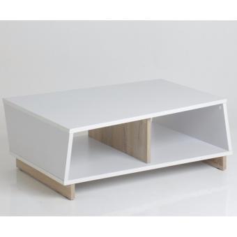 FUNIKA REGINA Coffee Table - White and Sonoma OAK - 3