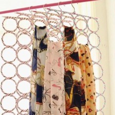 Gantungan Jilbab Bulat Origami 28 ring - Hanger Lipat Gantungan Hijab