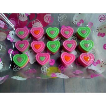 Gambar Detail Barang Griya Cetakan 3 Layer Heart - Coklat Terbaru