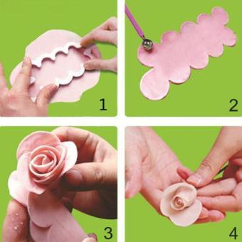 ... Griya Cetakan Rose Maker Cutter - Putih - 3 ...