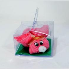 Handuk Souvenir Handuk Rabbit + Cup - Pink