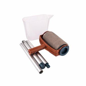 HengSong Multi-function Handle Paint Roller Set Painting Brush Point N Paint Household Decorative Tool(White+Orange) - intl - 3