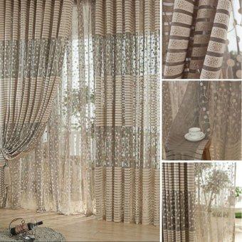 High-grade Jacquard tirai tabir gorden Curtain Jendela Windowscreening Hollow Breathable Bedroom living room Simple Co - 4
