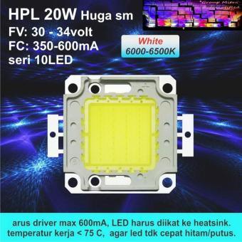 HPL 20W HUGA Putih/White 6000-6500K 350 Ma/600 Ma For Lampu