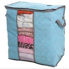 Igrosir Storage Bag Storage Box Tempat Penyimpanan Pakaian selimut bed cover - Biru