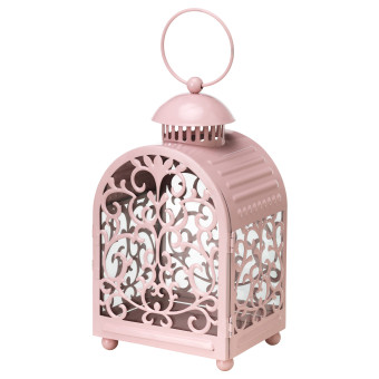 Ikea Gottgora Steel Lantern For Candle - Pink ...