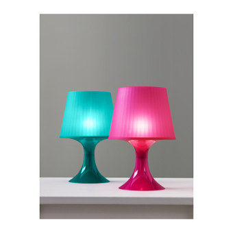 Ikea Lampan Lampu Meja Minimalis Lampu Kamar Lampu Hias - Putih - 2