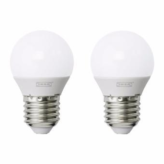 IKEA Ryet Bohlam LED E27 400 Lumen Bulat 2 Pcs - Putih