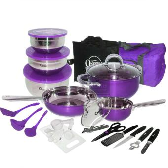 Harga OX-993 33Pcs Panci Oxone Travel Cookware Set