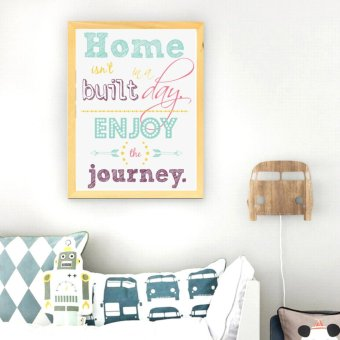 Harga Frame Motivasi Home Isn't In A Built Day (A-38)