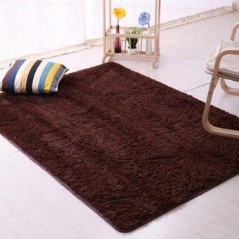 Sanwood Flokati Shaggy Livingroom Anti-Skid Carpet 120cm by 160cm - Coffee
