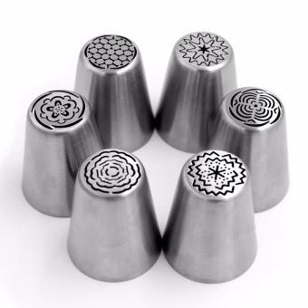 15pcs Stainless Steel Russian Style Nozzles Pastry Cake Decorating Tools Box - 3
