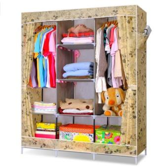 Big Space Lemari Pakaian Portable Wardrobe Cloth Rack Multifunction - Bongkar Pasang .