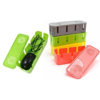 Universal Cable Box Organizer - Kotak Pengaman Kabel Dan Stop Kontak - 4 .