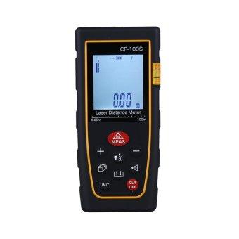 High Accuracy Handheld Digital IR Laser Distance Meter Bubble Level Measure Rangefinder 100M .