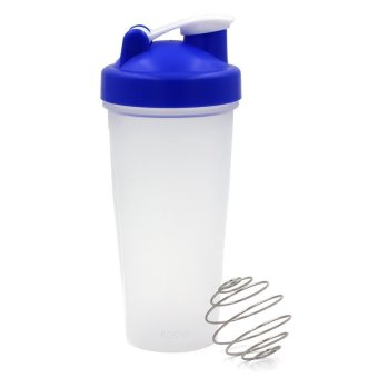 Harga Stylish 600ml Smart Shake Gym Protein Shaker Mixer Cup Drink Whisk Bottle Blue