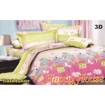 Harga Nyenyak Happy House Sprei Set Single 120x200x20