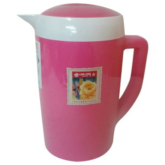 Harga Lion Star Thermo Water Jug Ellipse 1.7 Liter - Pink