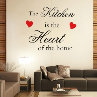 Harga Wall Sticker The Kitchen Is The Heart Of The Home Wall Quote Vinyl