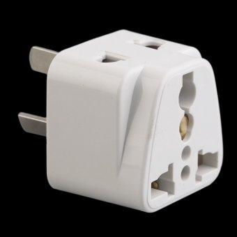 Harga Allwin 3 pin Chinese Power Plug Adapter Travel Converter Australia UK USA EU White