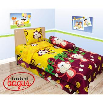 Harga Bed cover internal single 120 monkey