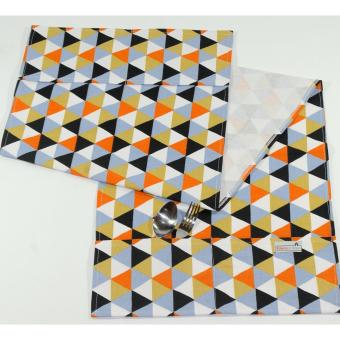 Cover Kulkas / Penutup Kulkas Triangle [Black Orange ] ...
