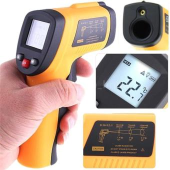 Harga Fashion Non-Contact LCD IR Laser Infrared Digital Temperature Thermometer Gun ER - intl