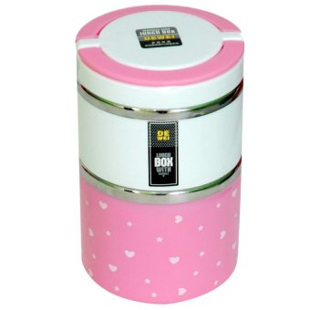 Harga Golden Lunch Box Susun 2 - Pink