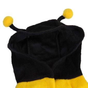 Lucu hewan peliharaan kucing anjing kumbang malam Halloween pakaian gaun pakaian menggagap lebah .
