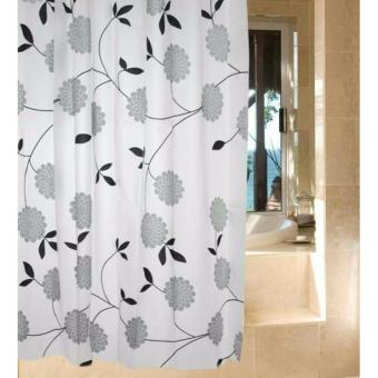 Harga Hokky Shower Curtain Waterproof Flower