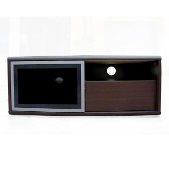 Harga Prissilia - Entertainment Center Rak TV - SL100 - Brown Oak