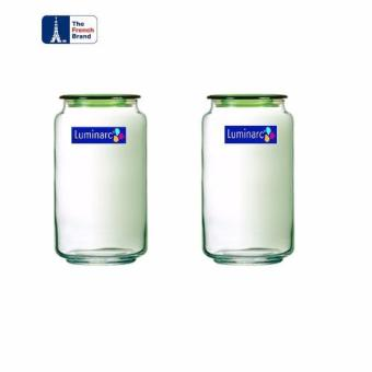 Luminarc Toples Rondo Jar Ice Blue 1Ltr - 2Pcs