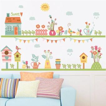 Harga Creative House Flags Mailbox Kids Room Decoraions Living Room Mural Art Bedroom Posters Mural Art Wallpaper Gifts for Children - intl