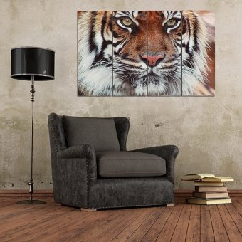 4PCS Canvas Print home decor wall art painting Picture,Bengal Tiger Unframed - intl