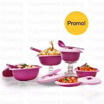 Harga Tupperware Purple Daisy Set