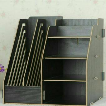 Harga DIY Stationery Rack Rak Buku Kayu Rak Buku Portable A340