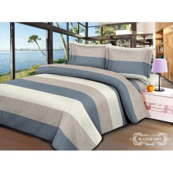 Harga V-Bed Bed Cover + Sprei SET 120x200x30 No.3 Single Size - Blaster Grey